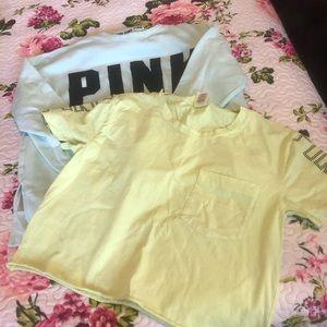 LOT OF 2! PINK sweatshirt and crop top